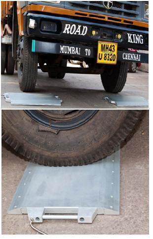 Portable Axle Weigh Pad for Trucks