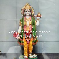 Dhanvatari Marble Statue