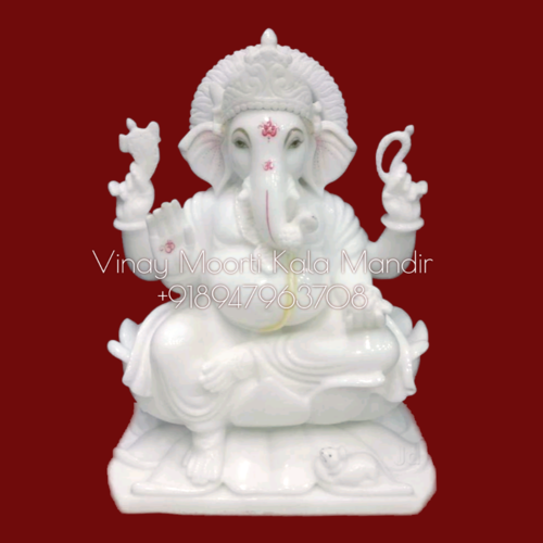 Antique Ganesh Marble Statue
