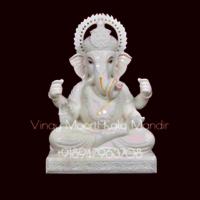 Dagdu Ganesh Marble Statue