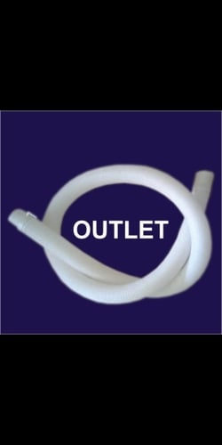 outlet washing machine pipe