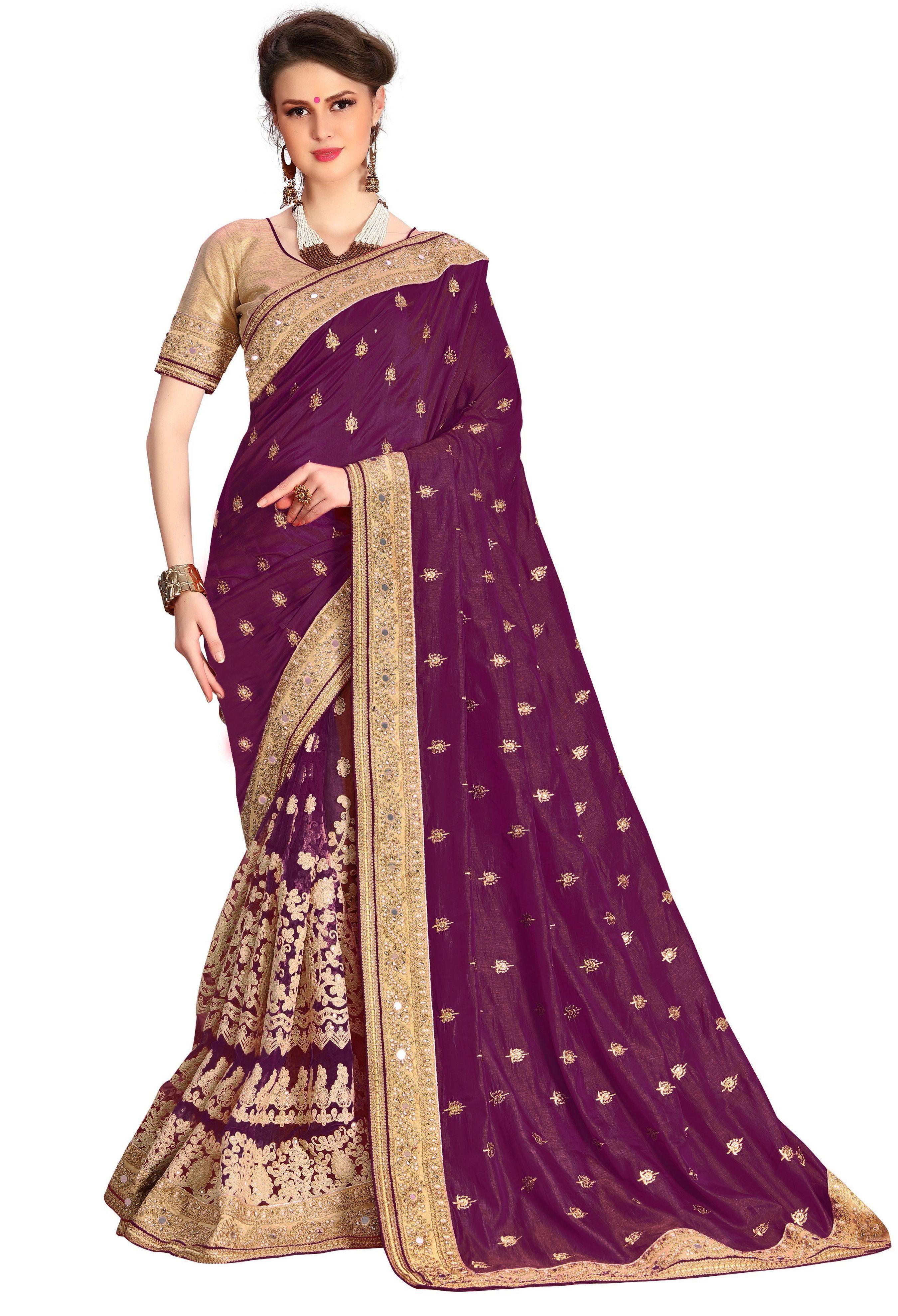 traditional embroidered  Dupion Silk Saree