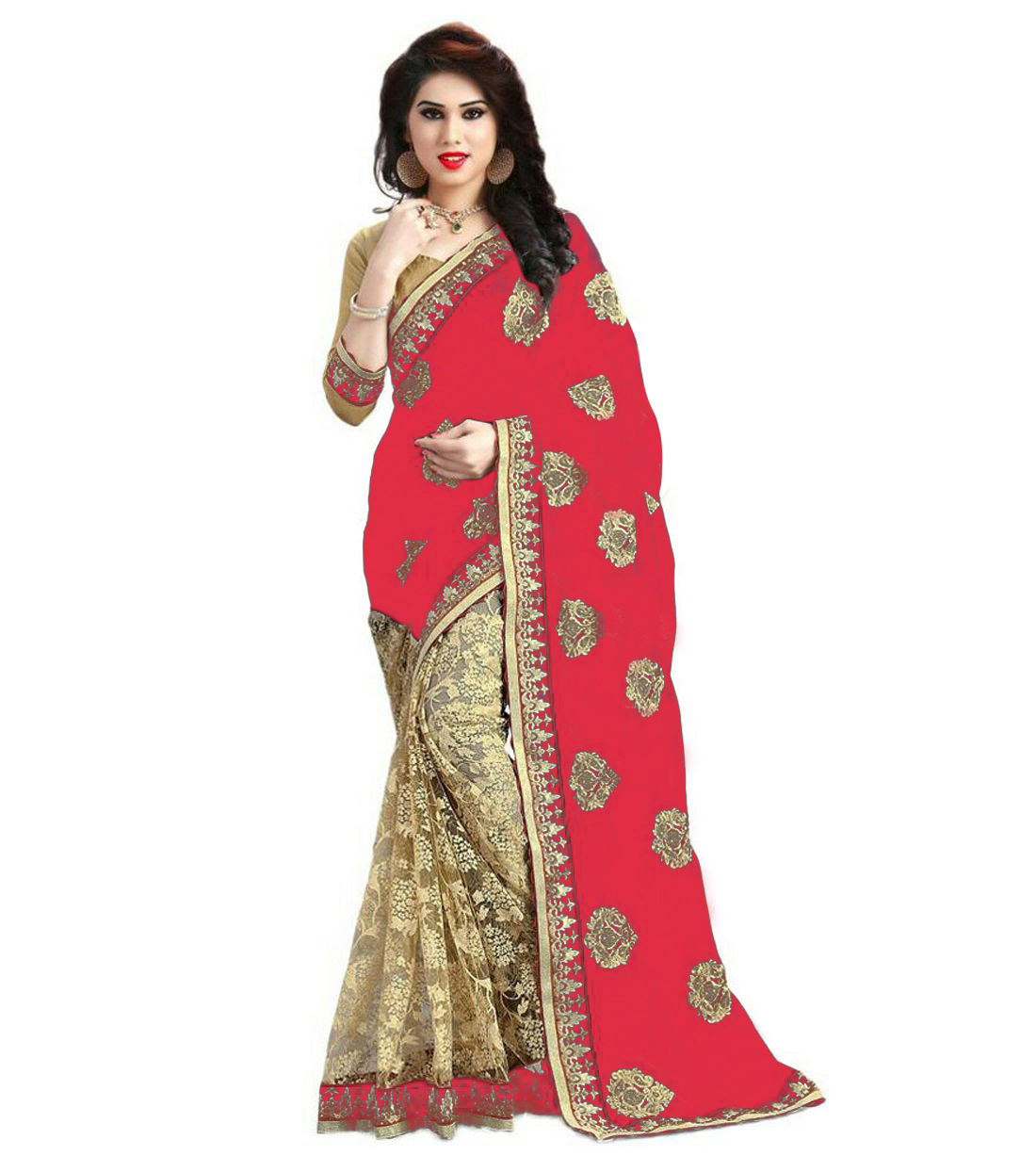 Georgette & Rasal Net Embroidery work saree collection