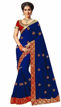 Embroidery work Pure Silk Saree collection