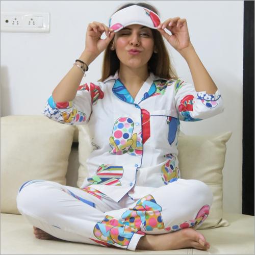 Ladies Night Suit and Eye Mask Combo Set