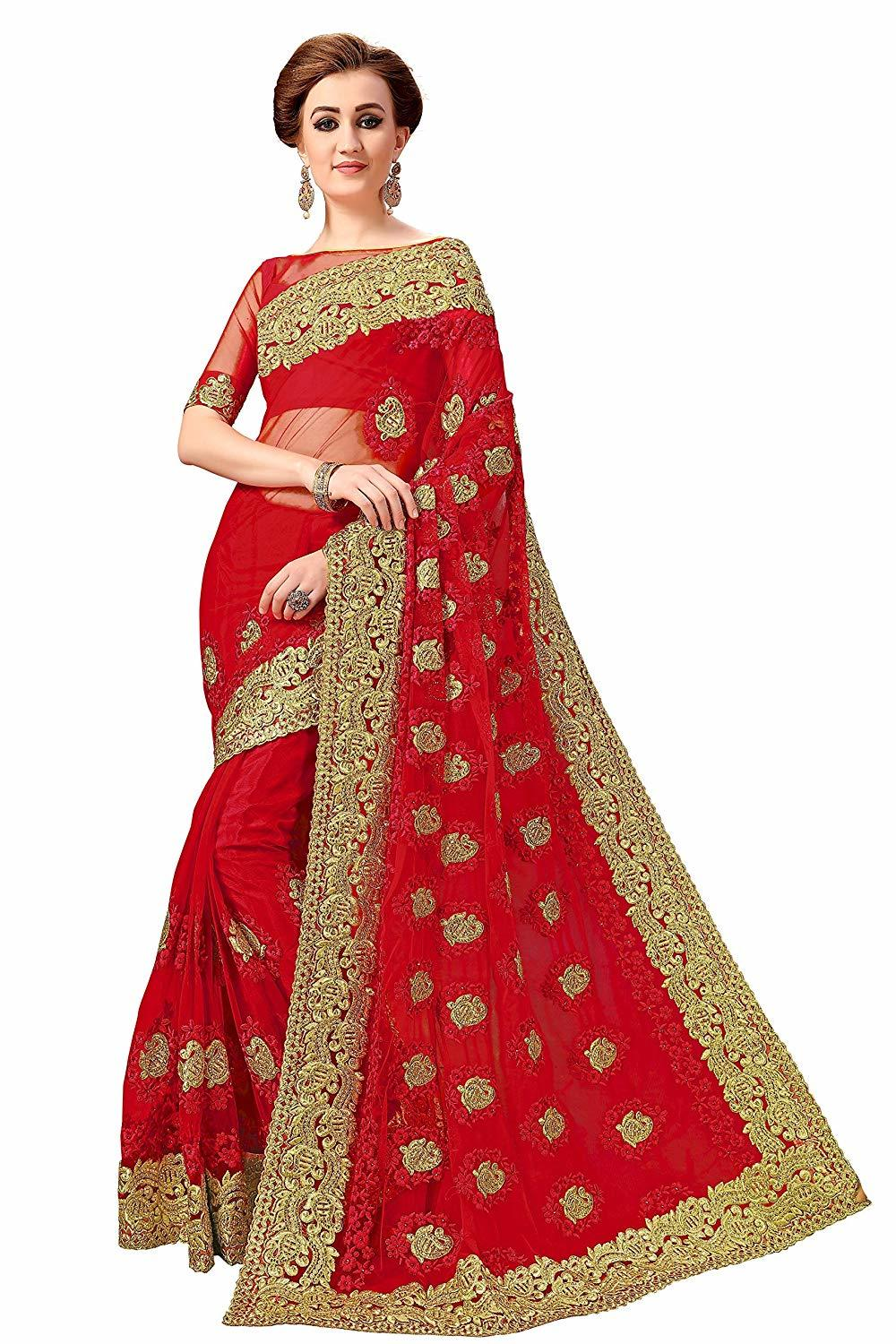 Heavy Embroidered Net Saree Collection