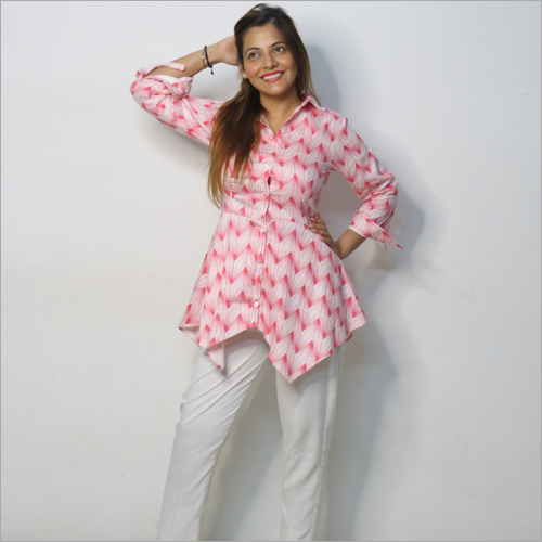 Ladies Designer Long Top With Pant