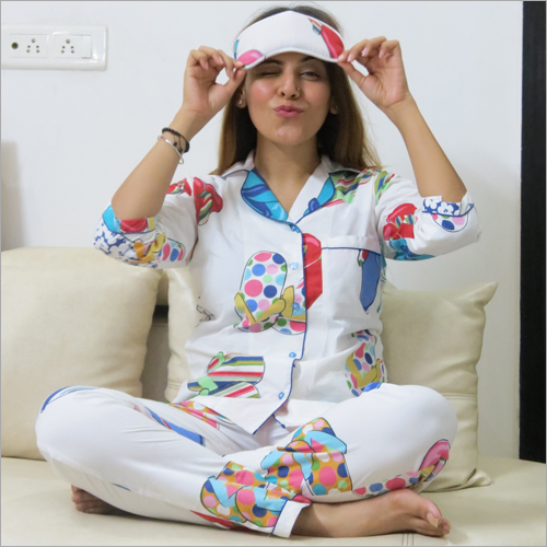 Ladies Night Suit and Eye Mask Combo Set