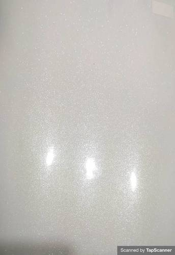 Sparkle White Texture Back Mobile Skin Material