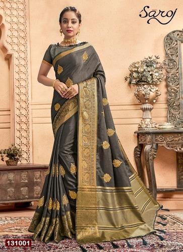 Elegant Dolla Chitt Pallu Saree