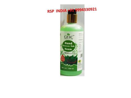 GHC HAND CLENSER AND RUB NEEM 600ML