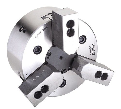 Unnat 3 Jaw Power Operated Chucks With Closed Centre
