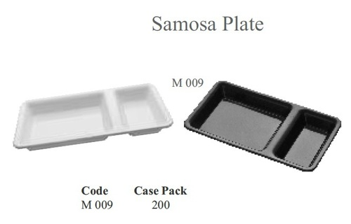 Fast Food Tray [Samosa Plate] 2 in 1 ABS & Polycarbonate 4.25 x 8