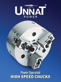 Unnat 4 Jaw Power Operated Chucks With Closed Centre