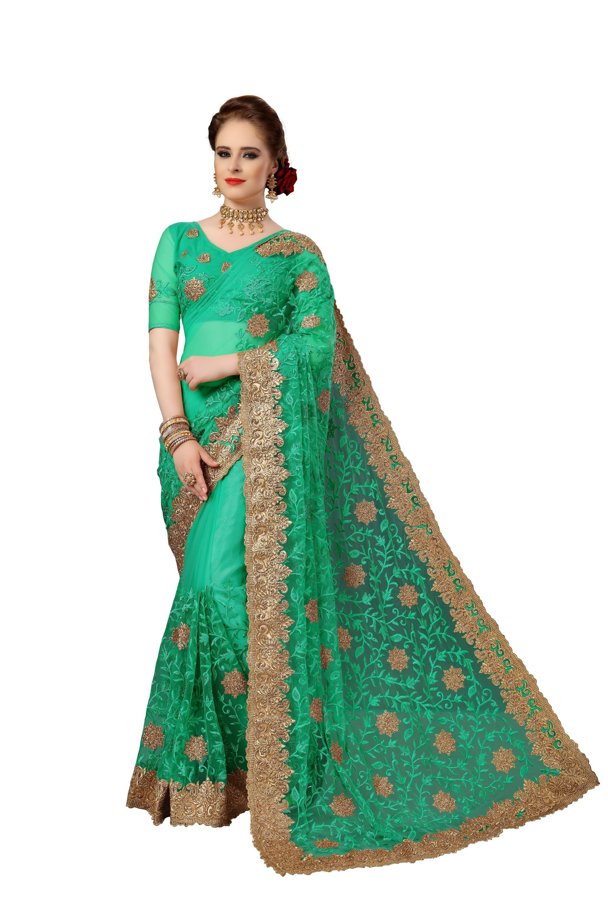 Heavy Embroidery, Stone Work Saree Collection