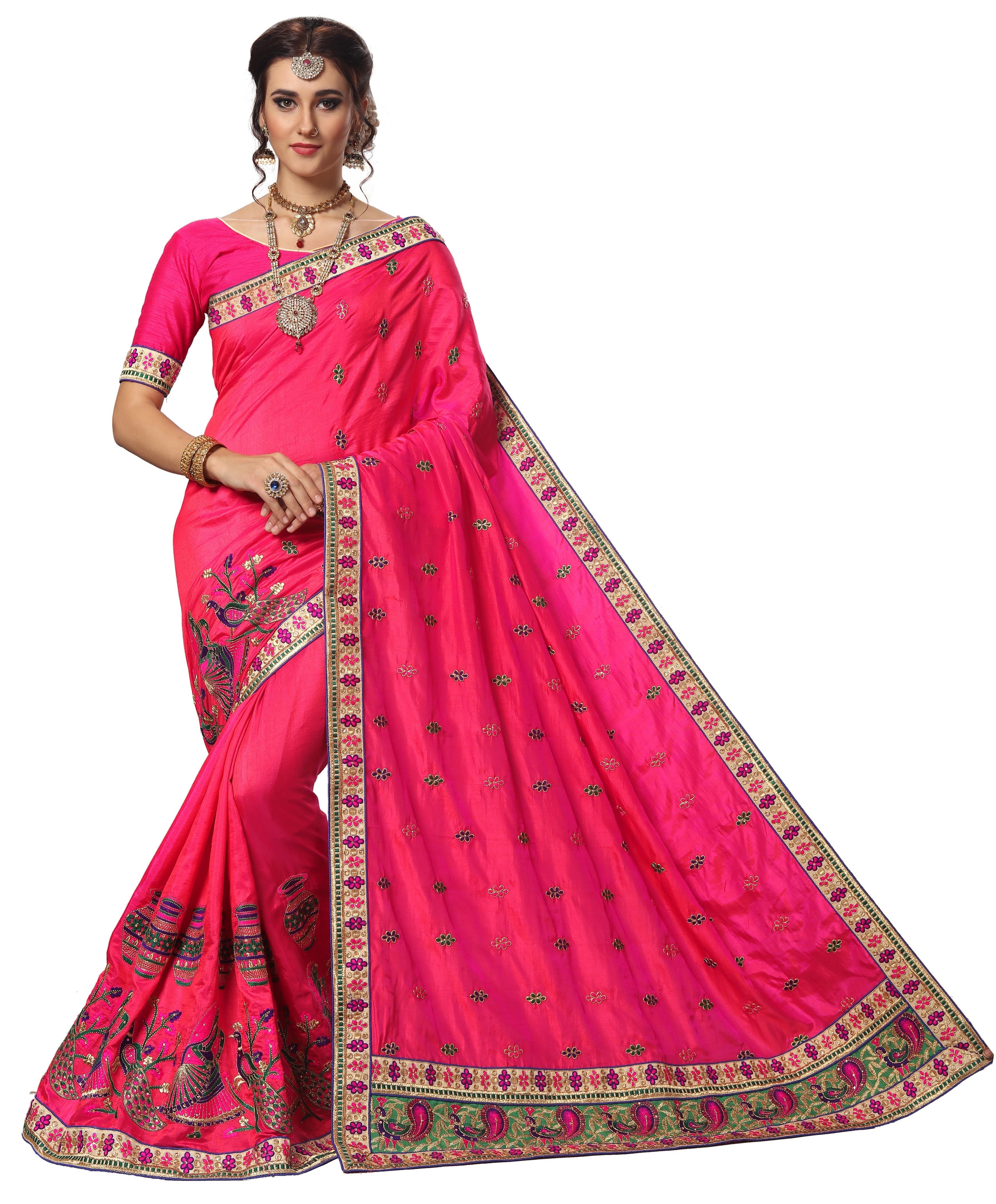 Fancy Silk Embroidered Saree
