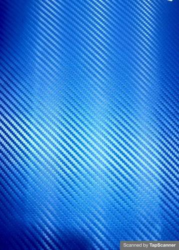 Mettalic Blue Carbon Fiber Texture Back Mobile Skin Material
