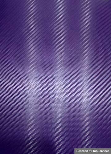 Purple Carbon Fiber Texture Back Mobile Skin Material
