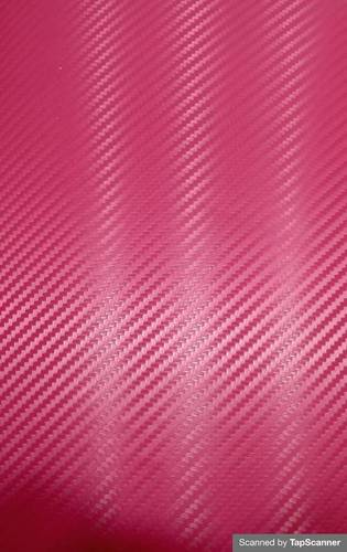 Queen Pink Carbon Fiber Texture Back Mobile Skin Material