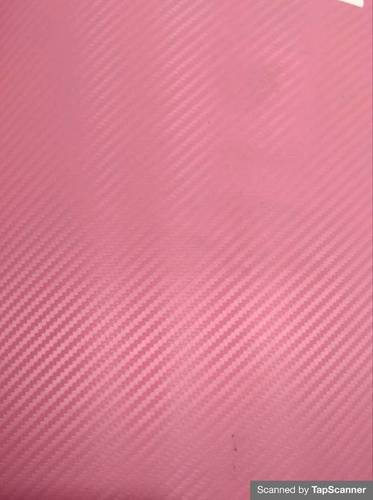 Pink Carbon Fiber Texture Back Mobile Skin Material