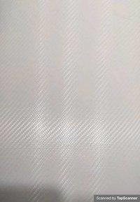 White Carbon Fiber Texture Back Mobile Skin Material