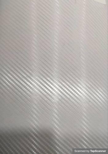 Transparent  White Carbon Fiber Texture Back Mobile Skin Material