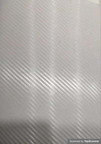 Transparent  White Carbon Fiber Texture Back Mobile Skin Material