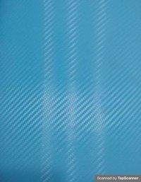 Sky Blue Carbon Fiber Texture Back Mobile Skin Material