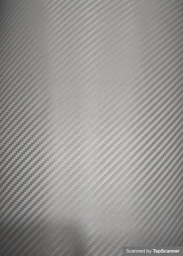Silver Carbon Fiber Texture Back Mobile Skin Material