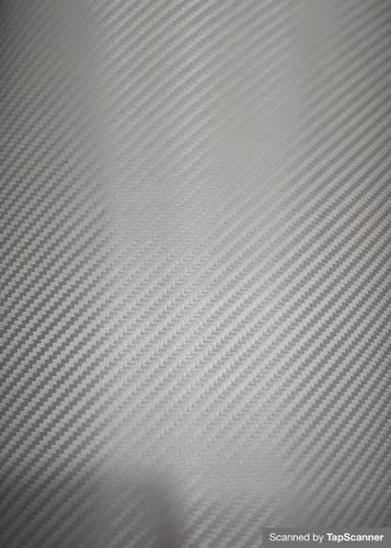 Silver Carbon Fiber Texture Back Mobile Skin Material
