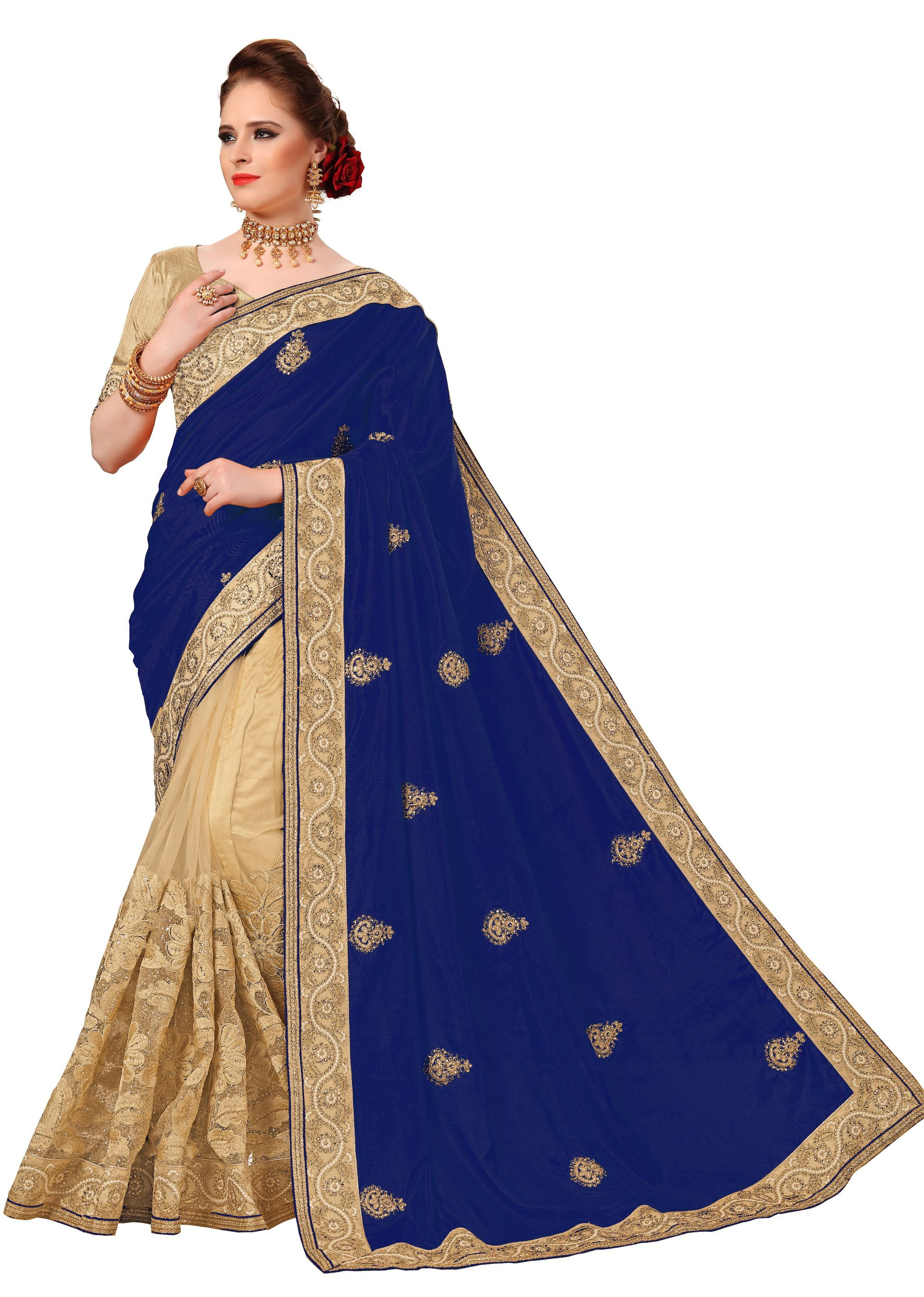 Heavy Embroidery Silk Net Saree collection