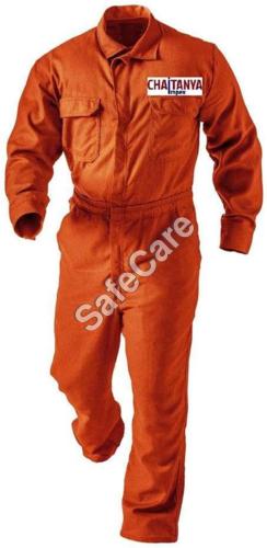 Orange Cotton Coverall