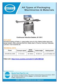 Continuous Induction Sealing Machine IS 130 C