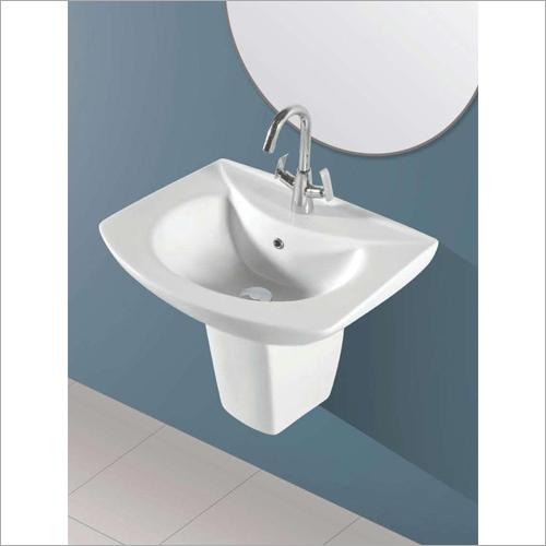 Wash Basin With Half Pedestal