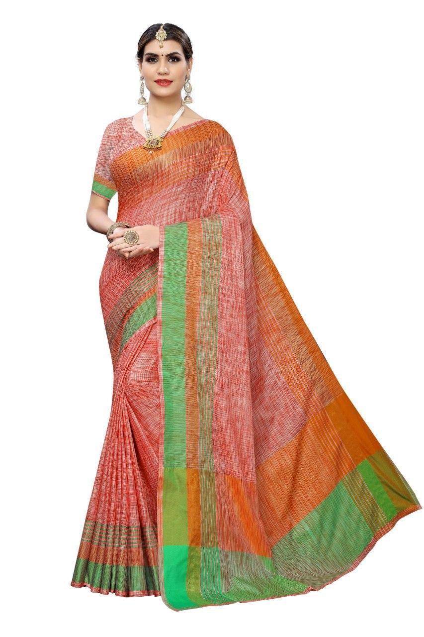 Desing Linen Party Wear Sarees