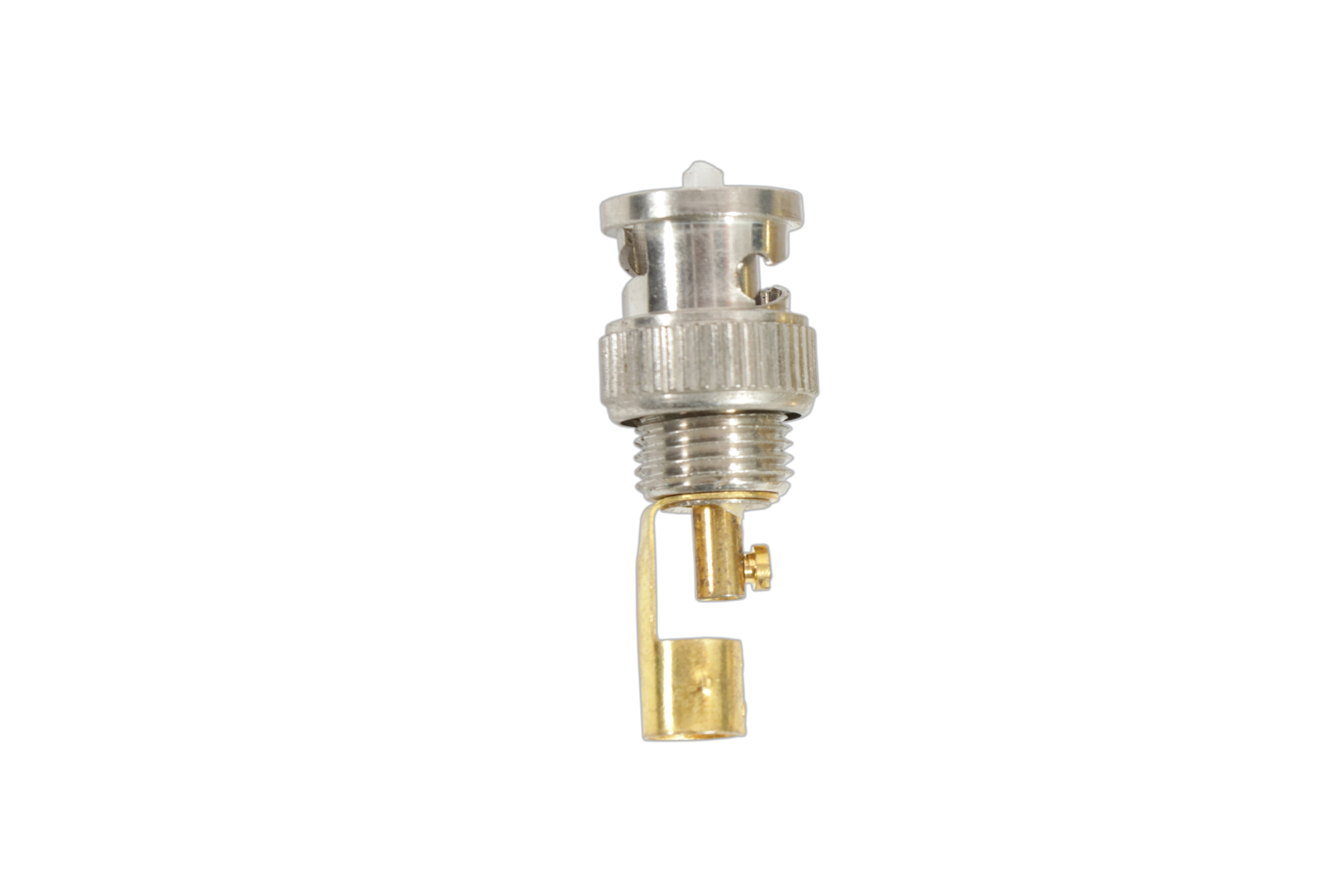 BNC PLUG WITH GOLDEN COLOUR PLATED TAG