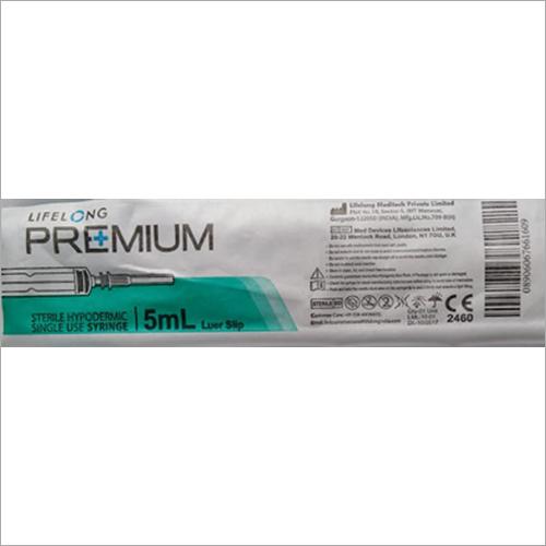 5 ml Sterile Hypodermic Single Use Syringe