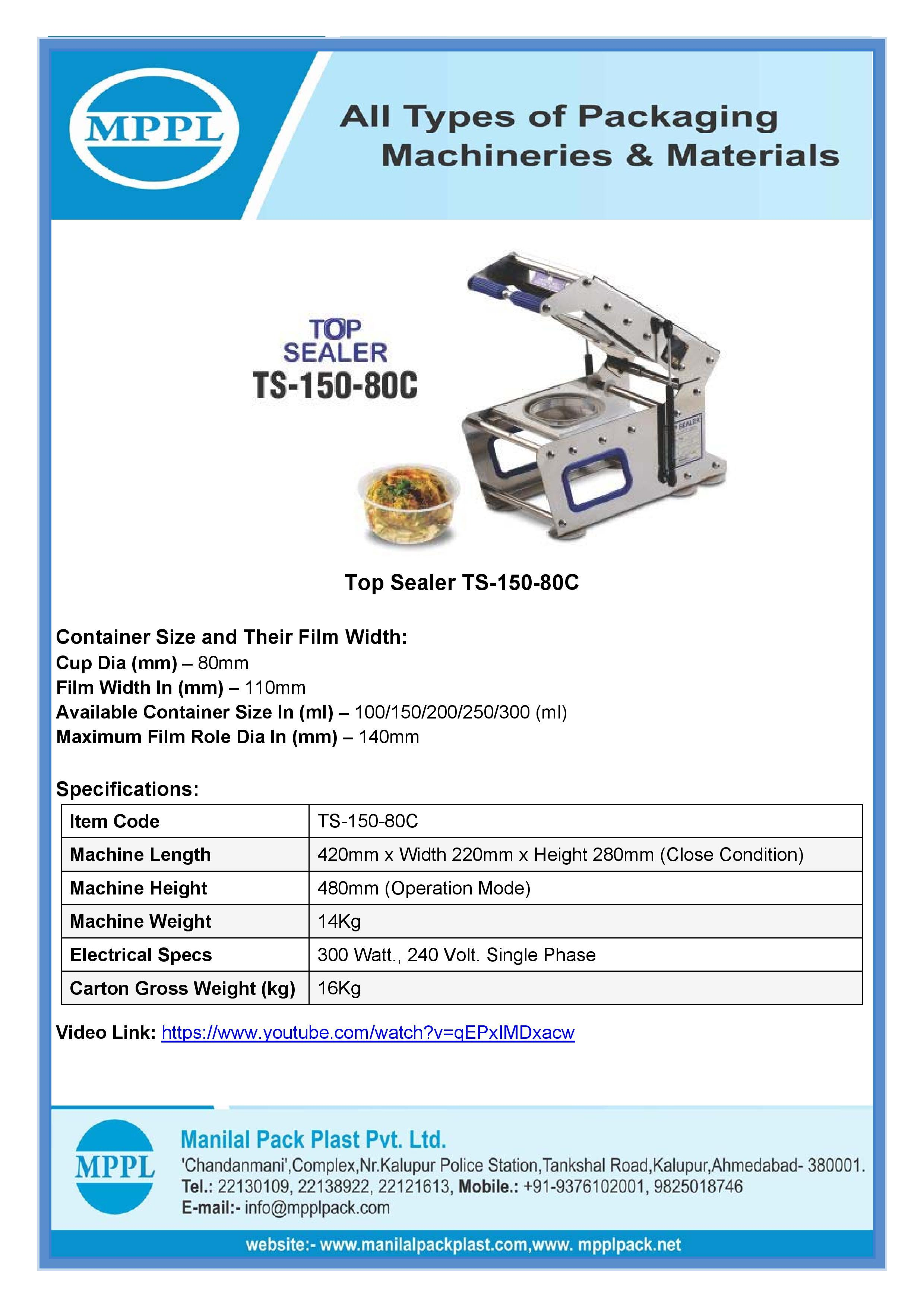 Top Sealer TS-150-80C