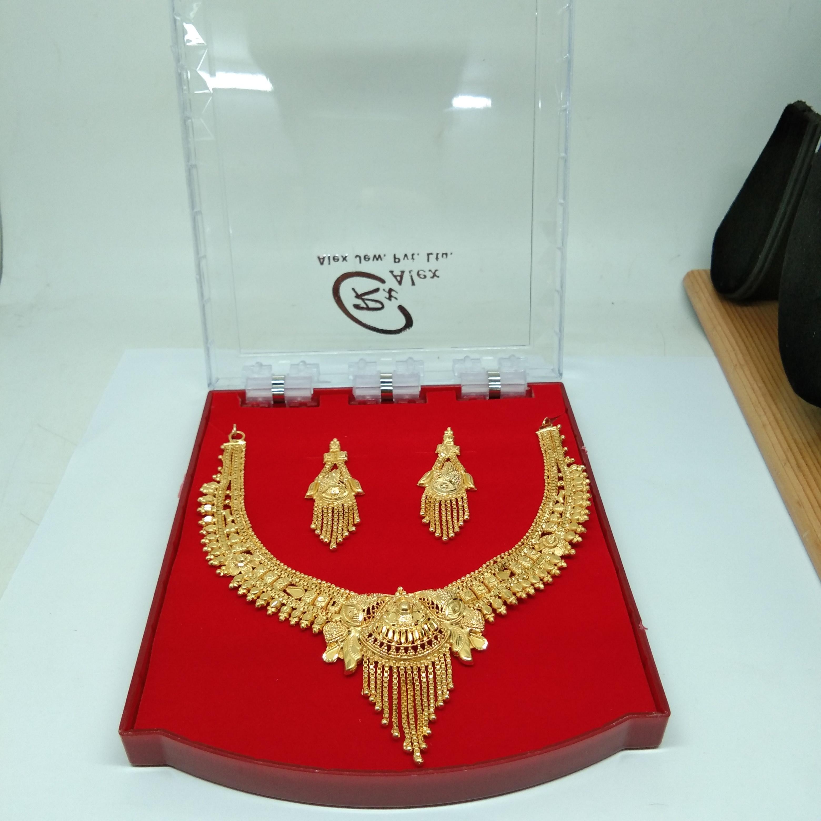Latest Design Golden color Forming Neckalce Set for women