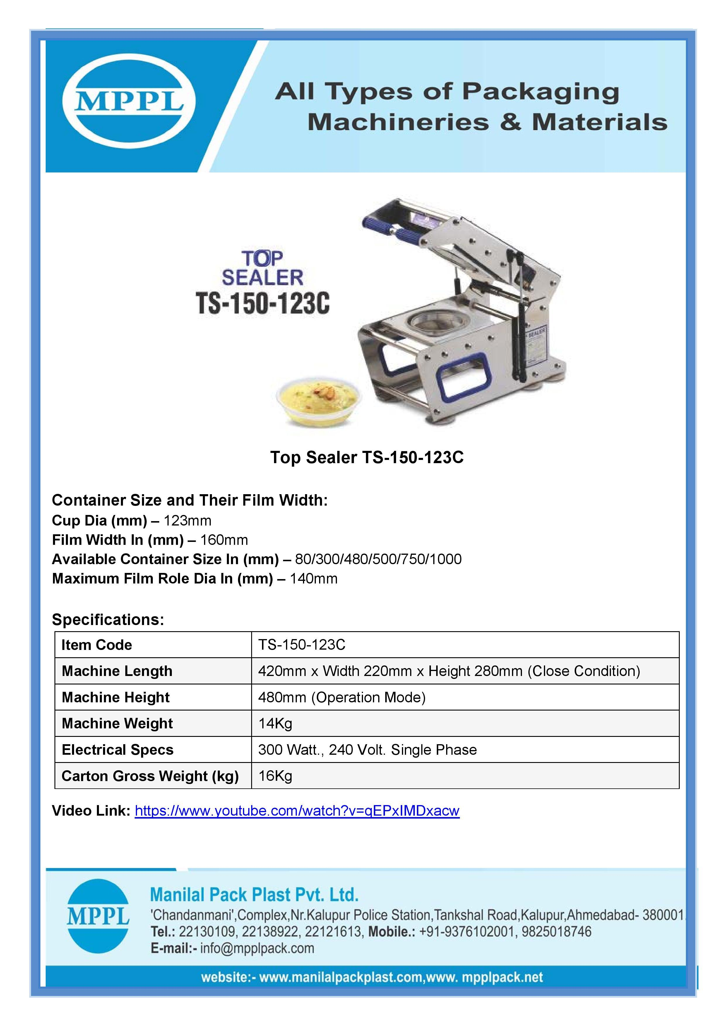 Top Sealer TS-150-123C