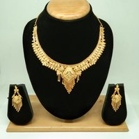 Gold Forming Necklace Set for Women & Girls
