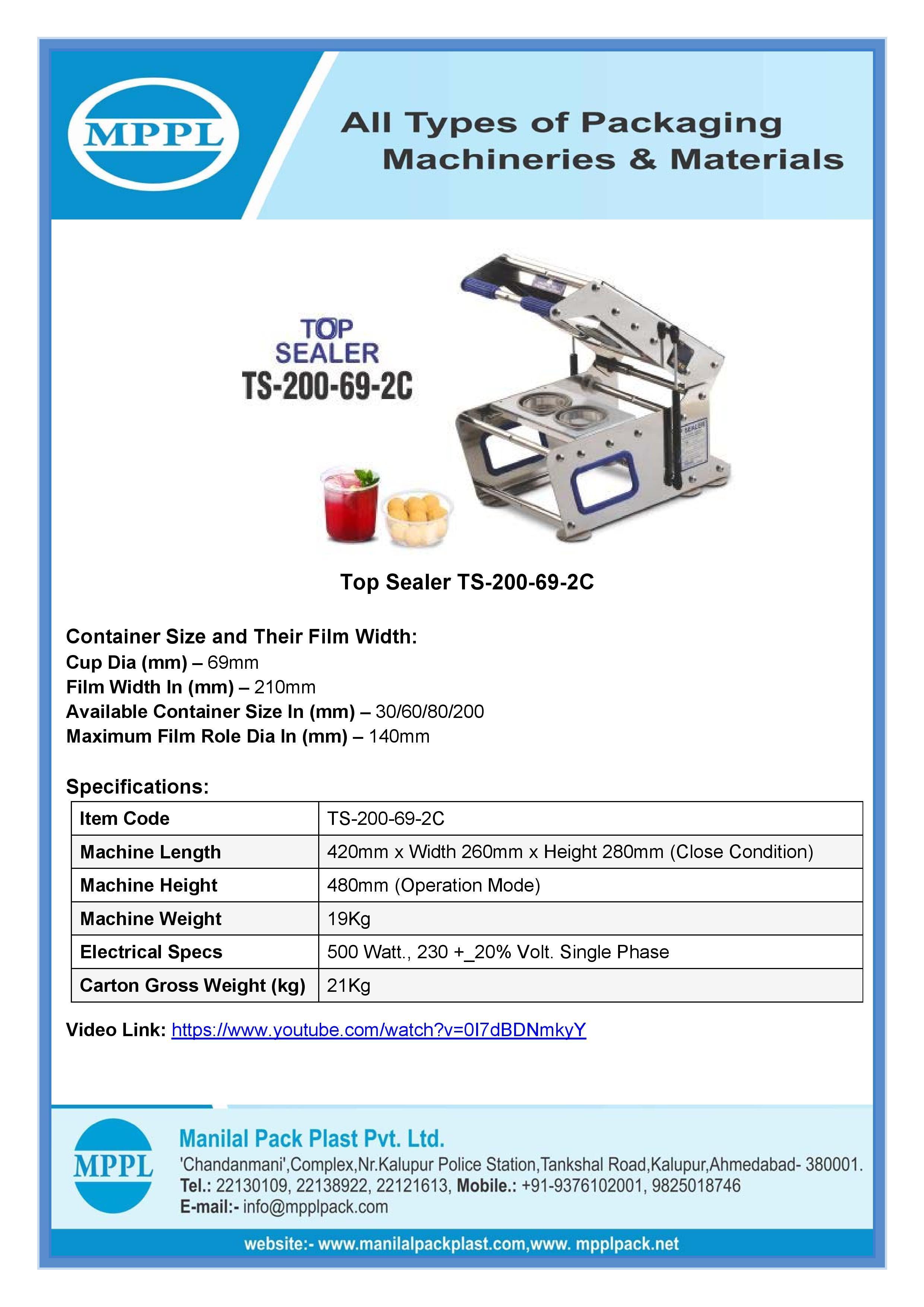 Top Sealer Ts-200-69-2c