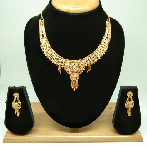 Fancy New Design gold necklace set for women