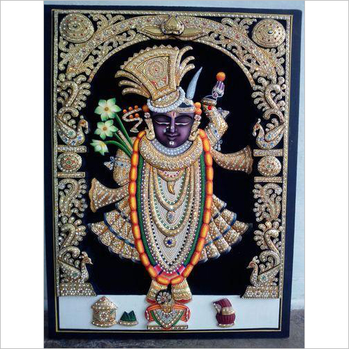Shreenathji Sehra Shringar God Painting