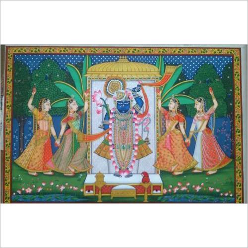Shreenathji Sharad Pichwai God Painting