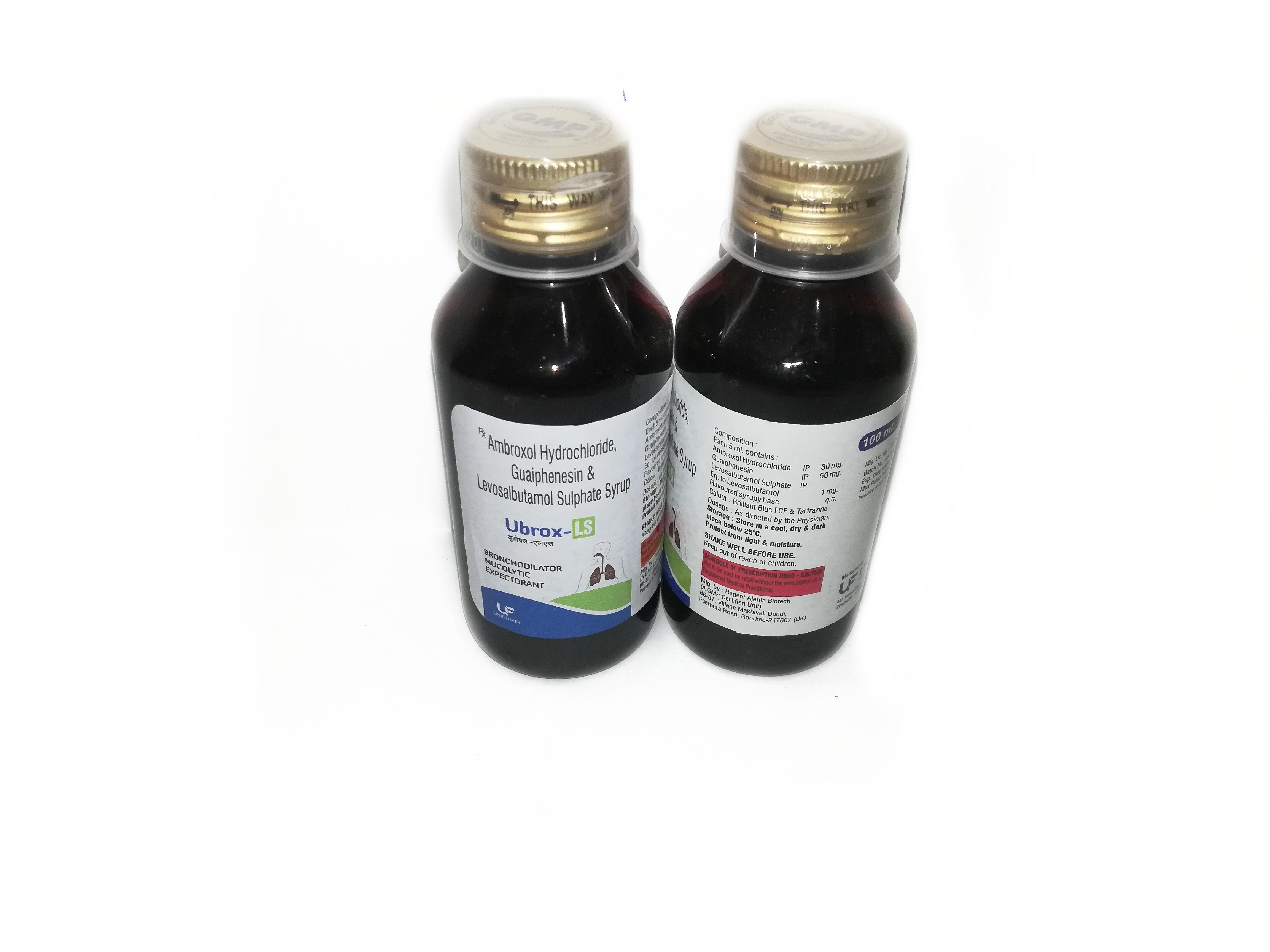 Ambroxol Hydrochloride 30mg, Guaiphenesin 50mg & Levosalbutamol Sulphate 1mg  Syrup