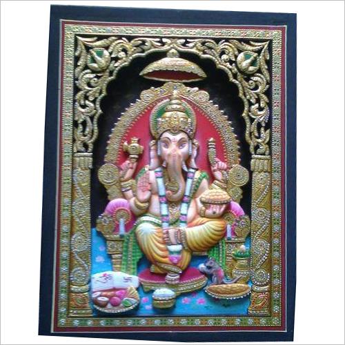 3D Ganesha Tanjore Paintings