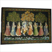Krishna Dance With Gopiya Painting