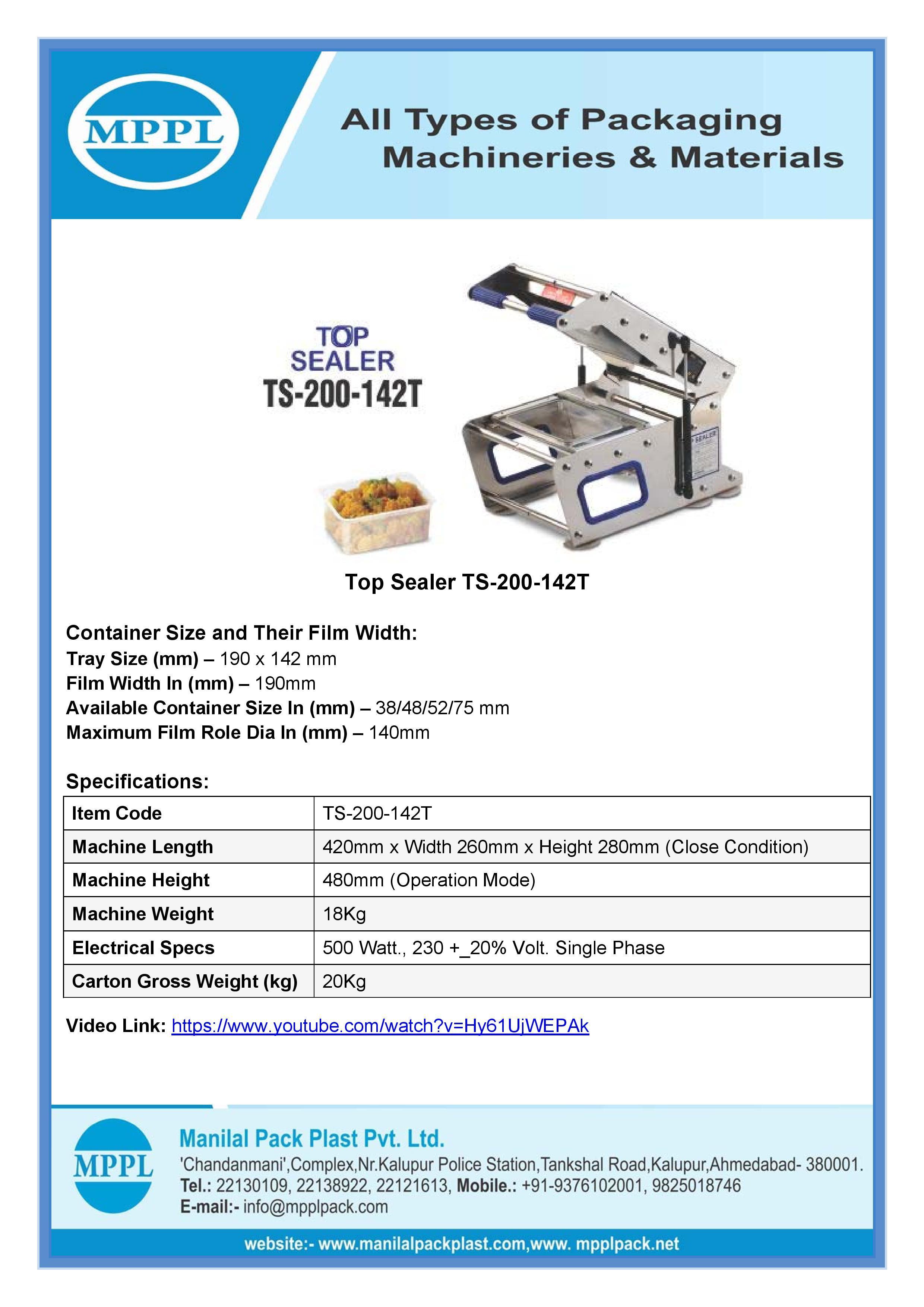 Top Sealer TS-200-142T