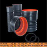 Double Wall Corrugated Pipes Coupler With Two Sealing Rubber Rings